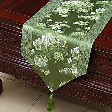 MH-RITA Chinesischer Garten Geschenk Tischdecke Tischdecke Bett Schrank Tisch Pad Flagge Flagge lange Tuch europäischen Stoff F 33 X 150 Cm.
