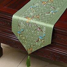 MH-RITA Chinesischer Garten Geschenk Tischdecke Tischdecke Bett Schrank Tisch Pad Flagge Flagge lange Tuch europäischen Gewebe H 33 X 200 Cm.