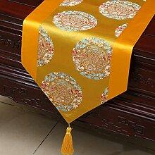 MH-RITA Chinesischer Garten Geschenk Tischdecke Tischdecke Bett Schrank Tisch Pad Flagge Flagge lange Tuch europäischen Gewebe Z 33 X 150 Cm.