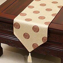 MH-RITA Chinesischer Garten Geschenk Tischdecke Tischdecke Bett Schrank Tisch Pad Flagge Flagge lange Tuch europäischen Stoff E 33 X 230 Cm