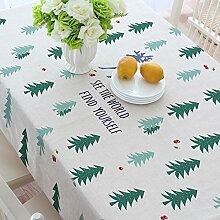 MH-RITA Die American Village Green Forest Baumwolle Tischdecken. 110 * 170Cm
