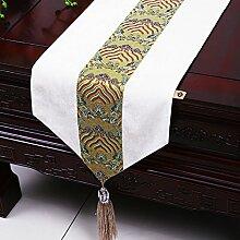 MH-RITA Die neue Chinesische Moderne, minimalistische Runner Wasser Tisch Tuch Tuch American Pastoral Mat Bed Bed's Handtuch H 33 X 230 Cm