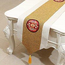 MH-RITA Die neue Klassische Chinesische Thailand Bettwäsche Runner Mode moderne Garten Tisch TV-Schrank. D 33 X 150 Cm.