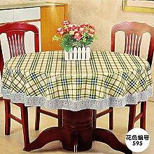 MH-RITA die Tischdecke Gewebe Wasserdichte dicke Kunststoff runden Tisch Drapieren H Durchmesser 200 Cm
