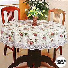 MH-RITA die Tischdecke Gewebe Wasserdichte dicke Kunststoff runden Tisch Drapieren, 220 Cm Anfrage [ED] Der Durchmesser