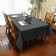 MH-RITA Einfache Tabelle wasserfeste Tischdecke Tischwäsche Tischdecken 90*140 Cm