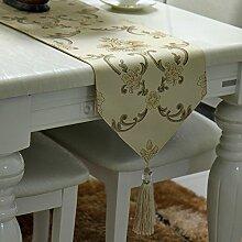 MH-RITA Europäischen Einfache Moderne Blended Garn gefärbt Jacquard Bettwäsche Tischdecke europäischen Tisch Flagge C 30X 180 Cm.