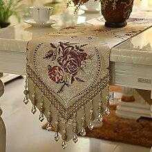 MH-RITA europäischen Luxus Fashion Classic Table Table Flag Flag Flag Flag Flag Bett Tisch Schrank eine Vielzahl von optionalen C 30 X 220 Cm