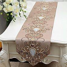 MH-RITA europäischen Luxus Geschenk Mode Einfache pastorale Strip Antependium Bett Schrank Flagge Flagge Tisch Serviette D 33 X 200 Cm.