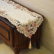 MH-RITA europäischen TV-Schrank Tuch Spitze Tischdecken rechteckige TV-Schrank Kommode einfach Tuch Tuch Garten Geschenk D 40 X 240 Cm