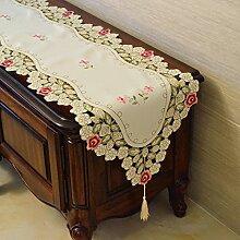 MH-RITA europäischen TV-Schrank Tuch Spitze Tischdecken rechteckige TV-Schrank Kommode einfach Tuch Tuch Garten Geschenk E 40 X 270 Cm