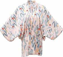 MH-RITA Frau Bademantel Sommer kurze Kleid Sommer Jacke Thin weibliche Modelle Lose Größe Heimtextilien Hausanzug M (165 Yards) Farbe