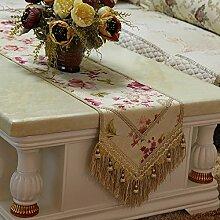 MH-RITA Geschenk Boutique Luxus im europäischen Stil Garten einfach Mode Tabelle Flag Flag Bett Tisch Flags TV-Schrank Flagge handgefertigte J 33 X 180 Cm.
