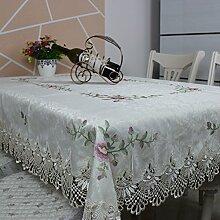 MH-RITA Hohl Bestickt Blume Tischdecken Tuch Tuch Tischdecken Tischdecken Tee Tischdecken Europäischen Stil 180 * 270Cm