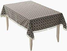 MH-RITA Home nähen Tischdecke multifunktionalen Tisch Tuch Tuch dicken Tuch mit Fransen Tischdecken Kaffee 140*140 (3) CM