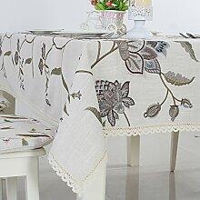 MH-RITA Im Amerikanischen Stil Bestickt Bettwäsche Bettwäsche Tischdecken Stoff Tischdecken Tischdecke B 140 * 210Cm