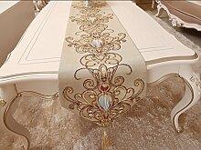 MH-RITA im Europäischen Stil, Luxus Geschenk Tischdekoration Tuch Tuch Serviette Tabelle TV-Schrank Flagge Flagge Strip Antependium chinesische Mahlzeit Flagge 32 X 180 Cm.