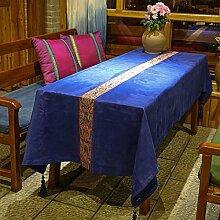 MH-RITA Mittelmeer - Plüsch Aus Blauen Spitzen - Tabelle Tisch Schreibtisch Tischdecken