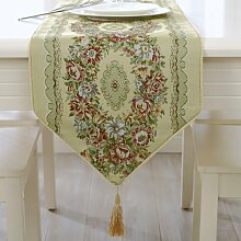 MH-RITA Moderne europäische Luxuriöse neue Tisch Tuch Tuch Wertvorstellung Essen Fashion Mat Bett Handtuch Stickerei Fahne Essen 33 X 210 Cm.