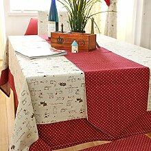 MH-RITA Natürliche Baumwolle Tischdecken Schreibtisch Tuch Ein 110 * Metall