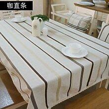 MH-RITA Pastorale karierte Tischdecken Tischdecke gerade Stange 130 * 130 cm