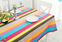 MH-RITA Pastorale Regenbogen - Streifen Tee - Tabelle Tischdecken Tuch Tischdecken 65 × 65 Cm