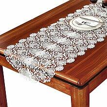 MH-RITA Stickerei Stickerei Tischdecke europäischen TV-Schrank weiß Couchtisch Mat Tabelle Runner Runner Schaufel Schrank Mahagoni-Schreibtisch 50 X 50 Cm