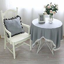 MH-RITA Tuch Tuch Baumwolltuch Round - Table - Tischdecken Garten B 130*180 Tablecloth