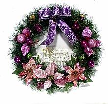 MHBY Weihnachtskranz Kunststoff Dekoration