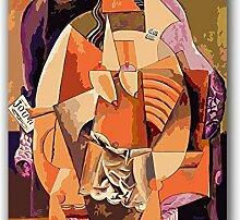 mhdxmp (Rahmenlos) Malen Nach Zahlen Picasso