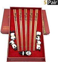 MHKBD Panda Essstäbchen mit süßem Panda-Halter