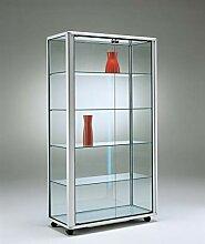 MHN breite Ausstellungsvitrine Glas beleuchtet mit