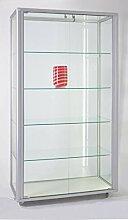 MHN große breite Ausstellungsvitrine Glas