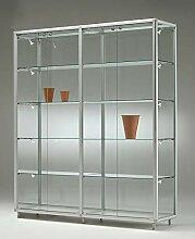 MHN große breite Glas Ausstellungsvitrine