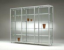 MHN große breite Glas Ausstellungsvitrine mit