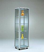 MHN schmale Ausstellungsvitrine Glas beleuchtet