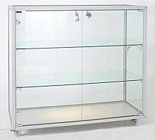 MHN Thekenvitrine Glas abschließbar Verkaufstheke