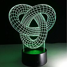 MHXXYD 3D Led Nachtlampe Touch Base Abstract