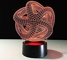 MHXXYD Abstraktion 3D Nachtlicht Veränderbare