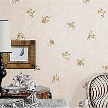 MI-RAN 3D geprägte Vliesstoffe Tapete fuer Wohnzimmer,Schlafzimmer,TVhintergrund 950CM * 53CM, A27081 , light pink , 950cm*53cm