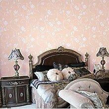 MI-RAN 3D Reliefs Pastoral Vliesstoff Tapete fuer Wohnzimmer,Schlafzimmer,TVhintergrund 950cm * 53cm A27110 , Pink , 950cm*53cm