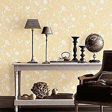 MI-RAN 3D Reliefs Pastoral Vliesstoff Tapete fuer Wohnzimmer,Schlafzimmer,TVhintergrund 950cm * 53cm A27110 , Beige , 950cm*53cm