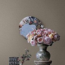 MI-RAN Einfache moderne Art 3D geprägte nichtgewebte feste Tapete fuer Wohnzimmer,Schlafzimmer,TVhintergrund 950CM * 53CM, A27081 , Grey , 950cm*53cm