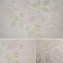 MI-RAN Pastoral Blumen Vlies Tapete fuer Wohnzimmer,Schlafzimmer 950CM*53CM , A35071 , light pink , 950cm*53cm