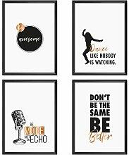 Mia Félice Poster-Set Collage DIN A4 Attitudes -