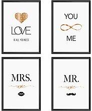 Mia Félice Poster-Set Collage DIN A4 True Love -