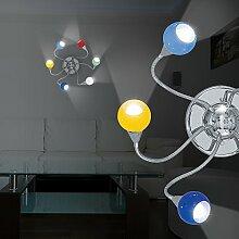 MIA Light 6-flammige Deckenleuchte aus Glas bunt