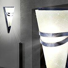 MIA Light Antike Wandfackel aus Glas satiniert und