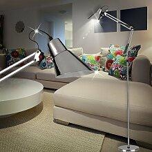 MIA Light Architekt Steh ↥1850mm/ Modern/ Retro/ Chrom/ Stand Standlampe Standleuchte Stehlampe Stehleuchte