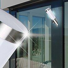 MIA Light Außen Sensor Fackelleuchte / Bewegungsmelder / Wandleuchte Außenleuchte Fackellampe Wandfackel Sensorleuchte Sensorlampe Wandlampe / Edelstahl